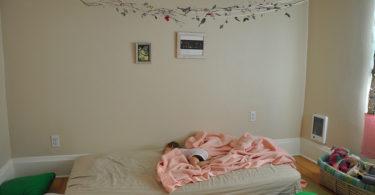 krevet na podu